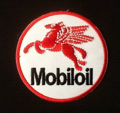 Red Pegasus Flying Horse Mobil Oil Gas Gasoline  Badge Iron Sew On Patch
