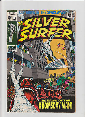 Silver Surfer #13 FN Silver Age (1970) Comic Book
