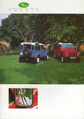 Landrover Defender County • 1988 • Brochure Prospekt • English • EXCELLENT