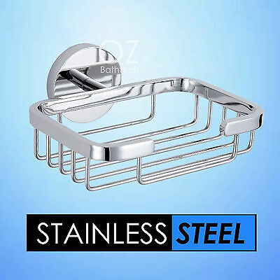 Bathroom Accessories Stainless Steel Wall Mount Soap Basket Holder Dish Chrome