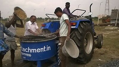 PTO driven concrete Mixture attached to Tractor,