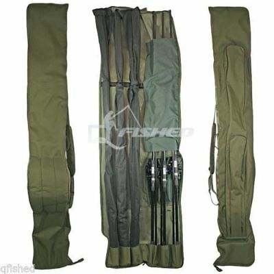Ngt 3 + 3 Made Up Rod And Reel Padded Holdall Bag Carp Fishing Tackle