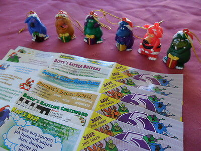 Yowie Yowies XMAS 1999 COMPLETE FULL SET of 6 * LIMITED EDITION MEN