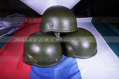 6B7-1M Aramid Composite Helmet Russian Armed Forces light used + emr cover