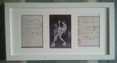 David Bowie Is Exhibition Ziggy Stardust With Lyrics Picture Frame