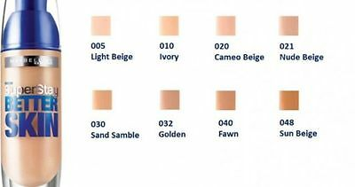 Maybelline Superstay Better Skin Foundation - All Shades Available