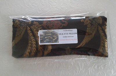 Yoga Silk Eye Pillow aromotherapy relaxation Chinese designs Dragons Black