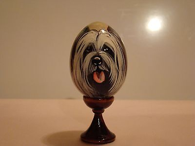 Russian eggs. High quality. Hand-painted Skye Terrier