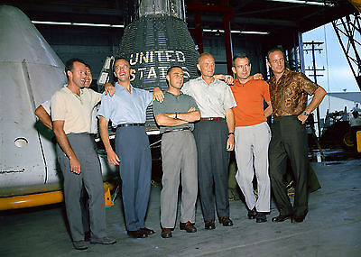 AA-703 ORIGINAL MERCURY SEVEN 7 ASTRONAUTS 8X10 NASA PHOTO
