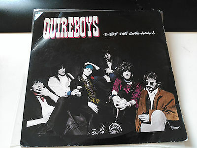 Single Quireboys - There She Goes Again - Survival Uk 1988 Vg+
