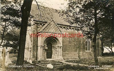 Real Photographic Postcard Steetley Chapel, Whitwell, Near Worksop, Derbyshire 1