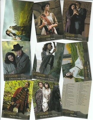 Outlander Season 1 (One): 72 Card Basic/Base Set - Cryptozoic 2016