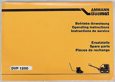 Amman Duomat DVP 1200 Instructions + spare parts - Originale