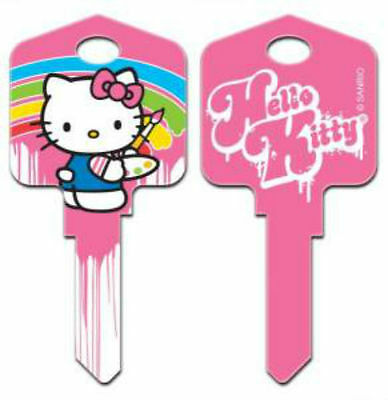 "HELLO KITTY "" PAINT "" House Key Blank Kw1 Kwikset SANRIO REVERSABLE"