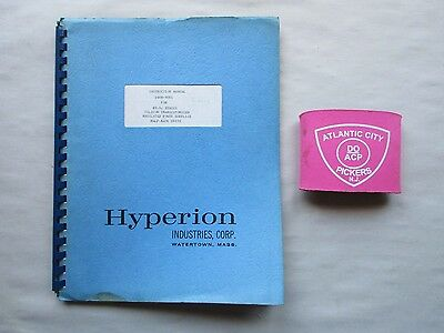 Hyperion Hy-Si Silicon Transistorized Regulated Power Supply Instruction Manual