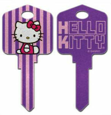 "HELLO KITTY "" GLITTER REVERSABLE "" House Key Blank KWIKSET KW  SANRIO TV"
