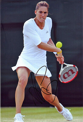 Andrea Petkovic Tennis autograph, In-Person Signed 8X12 Inches Photo Proof