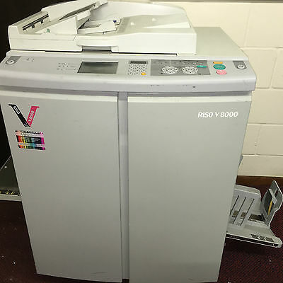 Riso V8000 Two Colour Digital Printer With  5 Colour Drums