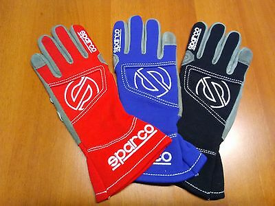 Guanti Kart Sparco Adulto Bimbo Hurricane Kg3 Karting Gloves Adult + Children