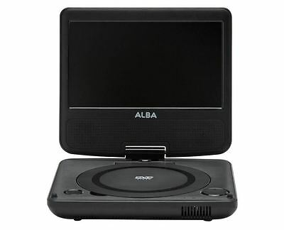 Alba 7 Inch Swivel Screen Portable DVD Player with In-Car Charger & USB Playback