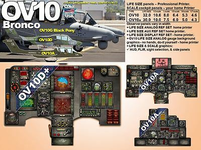 OV10 BRONCO SERIES COCKPIT instrument panel CDkit