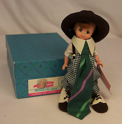 "Madame Alexander DRESSD LIKE DADDY #17002 The 1996 Collection 8"" Maggie Doll MIB"
