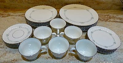30 Piece - Service For 6 - Syracuse - Silhouette - Sweetheart - Plates - Cups