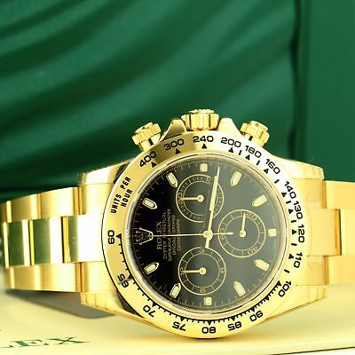 New Rolex Daytona 18k Yellow Gold 116508 Plastic w/ BOX & PAPERS