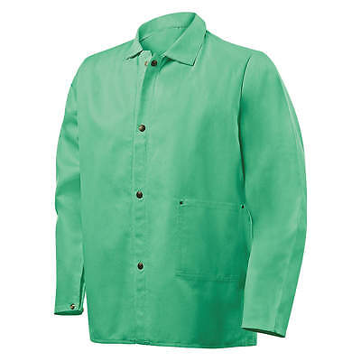 Welding Jacket - Green FR 9oz. Cotton - Size Medium