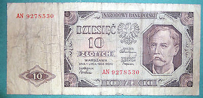 Poland 10 Zlotych Note , 1948 Issue, P 136