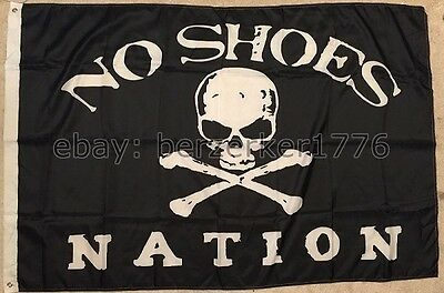 No Shoes Nation 3'x5' flag banner B2- Kenny Chesney Pirate Cowboy - USA shipper