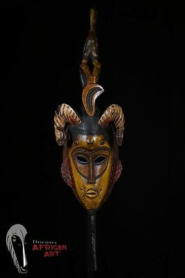 Discover African Art Guro Mask—Great Details—Cote d'ivoire