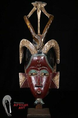 Discover African Art Red-Face Guro Mask 23""