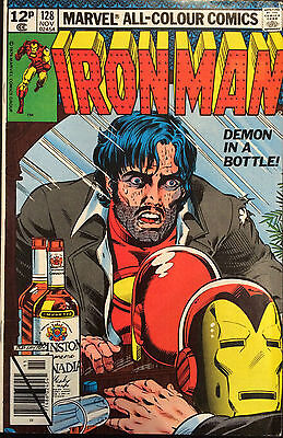 Iron Man #128 Demon in a Bottle Marvel Comics on offer