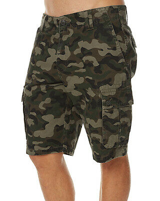 New Swell Men's Heritage Mens Cargo Short Cotton Green
