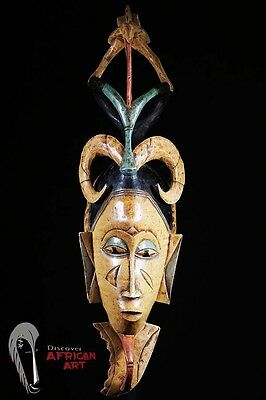 Discover African Art Guro Mask with Tall Superstructure
