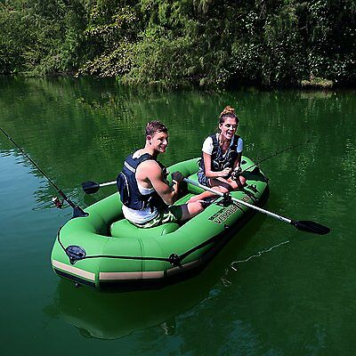 Hydro-Force Voyager 1000 2 Person Inflatable Fishing Boat Dinghy With Oars 2.91m