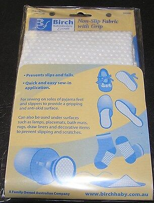 Non Slip Fabric Grip Easy Safety Tread Slipper Socks Baby Shoe Bootees Sew Craft