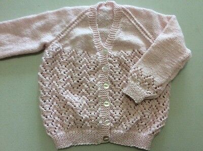 hand knitted cardigan Size 4