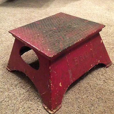 Rare Vintage B&o Baltimore & Ohio Railroad Conductor Boarding Metal Step Stool