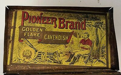 """Scarce (England) """"pioneer - Golden Flake Cavendish"""" Tobacco Tin-Imperial Tobacco"""