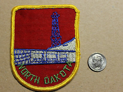 VTG North Dakota Oil Rig Pipeline Fossil Fuel Souvenir Embroidered Patch