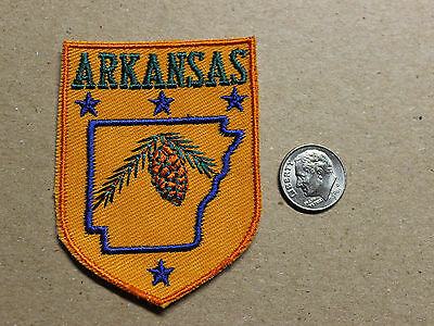 VTG Arkansas Stars Loblolly Pinecone Pine Cone Tree Souvenir Embroidered Patch