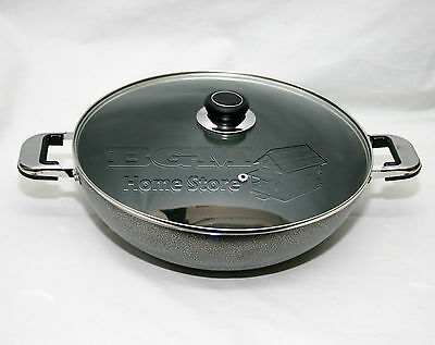 Non-Stick 32cm High Quality Wok Frying Pan With Strong Grip Black Handle 15138