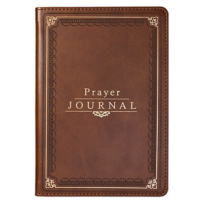 Prayer Journal Brown Faux Leather Flexcover by Christian Art Gifts