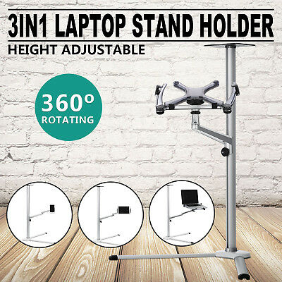 3In1 Laptop Stand Holder Ipad Pro Home Office Aluminum+Abs Widely Trusted