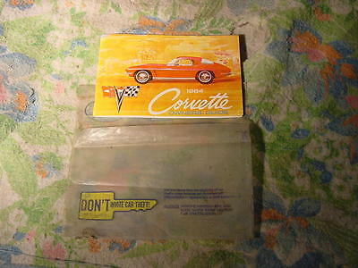 corvette c2 1964 owners manual first addition