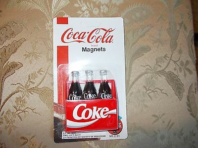 Coca-Cola Coke 3D Refrigerator Magnets 1995 New in Package