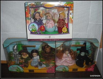 Nrfb Barbie Wizard Of Oz Lot Munchkins Witches Dorothy Tin Man Lion Scarecrow