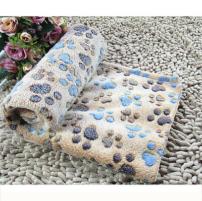 Warm Pet Mat Large Paw Cat Dog Puppy Fleece Soft Blanket Bed Cushion Cover Pad